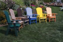 A&L Furniture Co. Amish-Made Poly Upright Adirondack Chairs - 13 Color Options