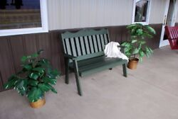 A&L Furniture Amish-Made Poly Royal English Garden Benches - 2 Sizes & 13 Colors