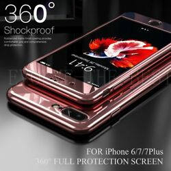360° Hybrid Shockproof Ultra Thin Hard Mirror Case Cover For iPhone XR 6 7 8Plus
