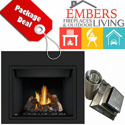NAPOLEON HD40 DIRECT VENT GAS FIREPLACE W REAR VENTING KIT & REQUIRED SURROUND