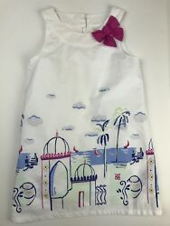 Gymboree Girls 5 Sleeveless Dress White Desert Dreams Tropical Lined Glittered