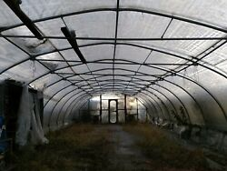 24x80 ft Heavy Duty Steel Cold Frame Hoop Greenhouse Kit High Tunnel House