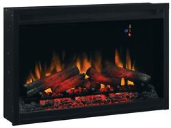 Classic Flame Traditional Built in Electric Fireplace Insert 5 Brightness Set Up