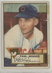 1952 Topps #127 Paul Minner Chicago Cubs RC Rookie Baseball Card