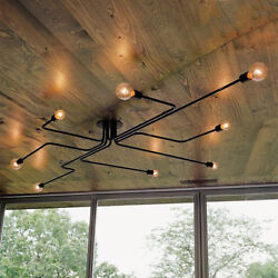 Antique Industrial Ceiling Light Steampunk Semi Flush Mount Chandelier Fixture $39.99