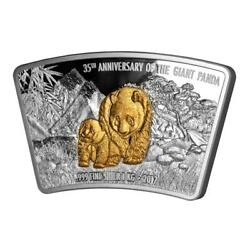 Fiji 2017 10$ 35th Anniversary of the Giant Panda 1 kg Proof Silver Coin