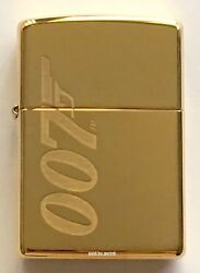 Zippo Windproof James Bond 007 Lighter With Logo Solid Brass 62043 New In Box