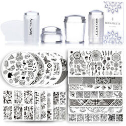 BORN PRETTY Nail Art Sets Stamping Plates Stamper Scraper Print Tools Collection