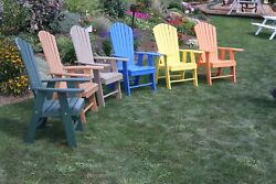 POLY WOOD ADIRONDACK CHAIR PORCH FURNITURE & PATIO SEATING Upright Design
