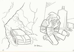 The Batman vs Joker Coloring Activity Book pgs. 15 & 16 - art by Joe Staton