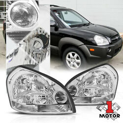 Chrome Housing Headlight Replacement Lamp Clear Turn Signal for 05 09 Tucson $136.27