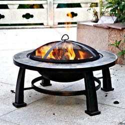 Wood Burning Fire Pit Table 30
