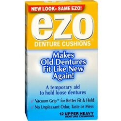Ezo Denture Cushions Upper Heavy Made of Pure Cotton Flannel&Paraffin Wax 12ct