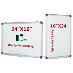 Vertical Compatible Dry Erase Board Magnetic Markers Small Whiteboard 24quot; x 16quot; $18.99