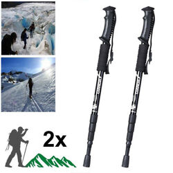 Trekking Walking Hiking Sticks Poles Alpenstock anti shock Adjustable $19.66