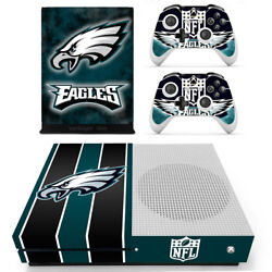 Xbox one S Slim NFL Philadelphia Eagles Vinyl Skin Decals Stickers for Console