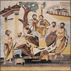 Ancient Greek SQUARE MURAL Art Tile 89