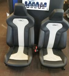 2015 BMW M4 OEM FACTORY LEATHERCLOTH FRONT SEAT PAIR 3.0LT ASSY #1085