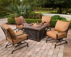 Fire Pit Set Table Patio With Chairs Dining Sets Conversation Seating Furniture