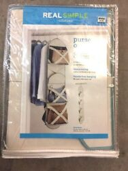 Real Simple Solutions Hanging CLOSET ORGANIZER Purse 8 COMPARTMENTS NEW NIP