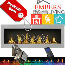 NAPOLEON LV50 Linear Gas Fireplace Vector 50 Vent Kit Nickel Stix Stainles Steel