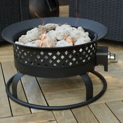 Small Fire Pit Portable Propane Firepit Cover Patio Outdoor Gas Fireplace Camp