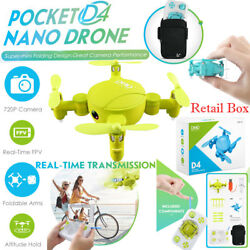 JJRC D4 Mini Quadcopter Pocket Drone Wifi 720P HD Camera Altitude Hold Foldable $42.99