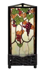 Bronze And Leaded Stained Glass Corner Floor Table Lamp $99.99