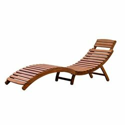 Merry Garden Patio Furniture Wood Folding Chaise Lounger Chair Outdoor Recliners