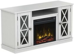 CLASSIC FLAME 47.50 in. Media Console Electric Fireplace Heater TV Stand White