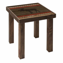 NEW PINE WOOD DECORATIVE SIDE TABLE 18.5
