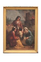 VINCENZO GIACOMELLI (1841-1890) OIL ON CANVAS SIGNED AND DATED  PAINTING OIL