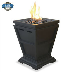 Gas Fire Pit Tabletop Outdoor Small Space Patio Deck Propane Heater Decorative