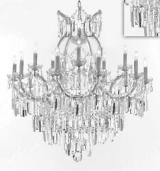 Maria Theresa Chandelier Crystal Lighting w Optical Quality Fringe Prisms $796.99