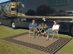 Large Big Mat For Family Outdoor Camper Camp Camping RV Carpet Patio Deck Rugs