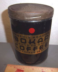 Vintage Bokar Coffee black and gold 1 lb tin great colors amp; graphics Aamp;P coffee $19.99