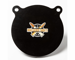 One AR500 Steel Target Gong 1 2quot; x 8quot; Painted Black Shooting Practice Range $24.49