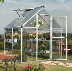 Palram Nature Hybrid 6x6 Greenhouse Kit - Silver