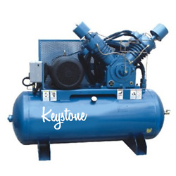 25hp Air Compressor Industrial Cast-Iron 2 Stage 120 Gallon  Replaces KELLOGG $5,399.00