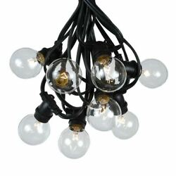 100 Foot G50 Heavy Duty Outdoor Patio Globe String Lights 100 Clear Bulbs