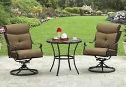 BETTER HOMES AND GARDENS Bailey Ridge 3 Piece Outdoor Bistro Set Patio Furniture