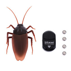 Fake Roach Scary Toy Remote Control RC Realistic Prank Christmas Halloween $11.54