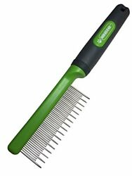 Pixikko Stainless Steel Cat Shedding Comb with Non-slip Grip Handle Brushes Dog