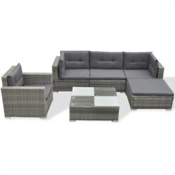 Grey Outdoor Furniture and Cushions Rattan Patio Lounge Sofa Chair Coffee Table