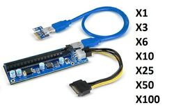 Lot of BTC USB 3.0 PCI-E Express 1x To 16x Extender Riser Card Adapter