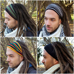 Mens Headband Dreadband Head Scarf Turban Dreadlock Hair Accessories Head Wrap $12.90