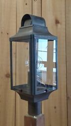 PERIOD LIGHTING FIXTURES L306  Colonial style Post Lantern Natural Copper