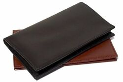 Floto Imports Mens Firenze Checkbook Wallet Italian Lambskin Leather