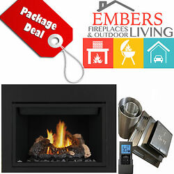 NAPOLEON HD46 DIRECT VENT GAS FIREPLACE 5' VENTING KIT REQUIRED SURROUND REMOTE