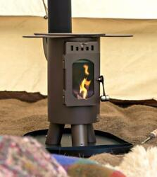 Outdoor Camping Stove for Travellers With Glamping Canvas Tents